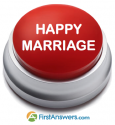 happy marriage button