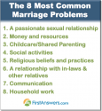 8 sources of conflict and common marriage problems