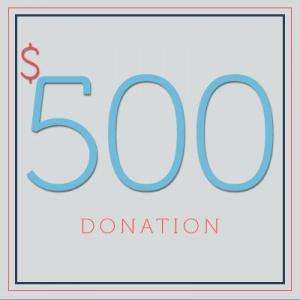 $500 Donation - DONATE