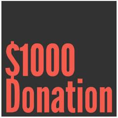 $1000 Donation - DONATE