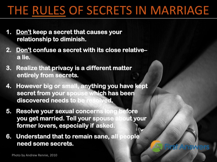 Rules of Secrets in Marriage
