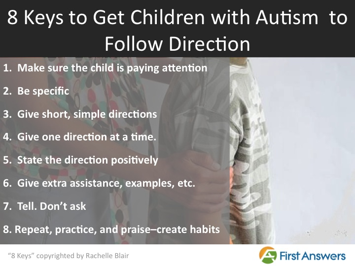 8 Keys to get children with autism to follow directions