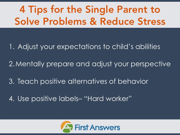 Single parent tips to solve problems and reduce stress blog 4 tips for a single parent to reduce stress ccuart Image collections