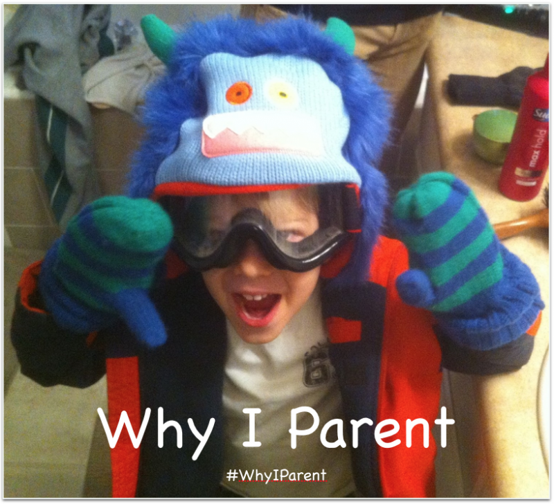 Monster hat and goggles #WhyIParent