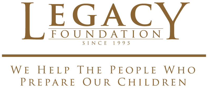 Legacy Foundation logo with slogan